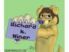 Rowdy Monster's RK Badge - Conbadge Exchange for September