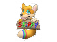 Skippy Fox - Conbadge Exchange, July 2014
