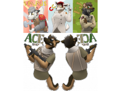 Furries in Uniform - FE 2013 Badges